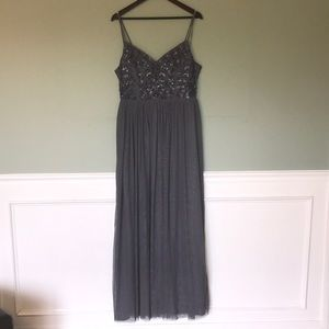 BHLDN Gown with sequence top